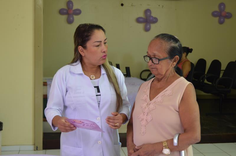 Unidade de Saúde do Telégrafo abriu a campanha Março Lilás. A programação segue até sexta-feira (15).
