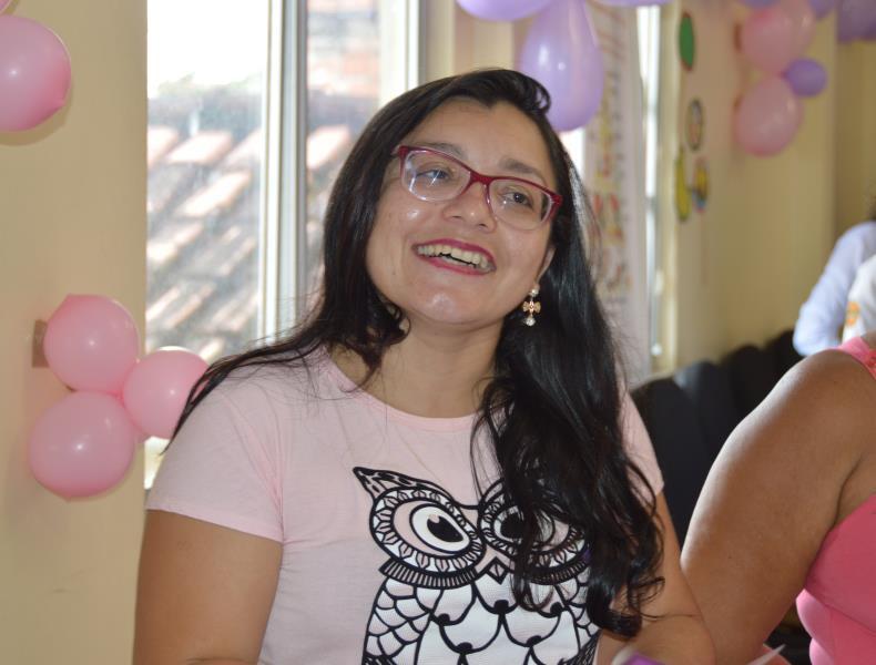 A vendedora autônoma Cintia Sena, 31 anos, foi uma das usuárias que obteve novas informações sobre saúde