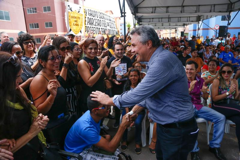 A entrega das primeiras 320 unidades teve a participação do prefeito Zenaldo Coutinho