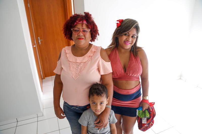 Rosana do Socorro, Luana e Luan (familia Nascimento)
