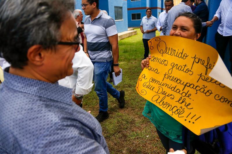 Os novos moradores fizeram questão de agradecer à Prefeitura de Belém pela iniciativa da construção do residencial