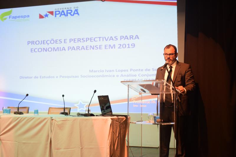 O diretor da Fapespa, Márcio Ponte, expôs algumas projeções para a economia paraense, destacando expectativas e fatores de impacto
