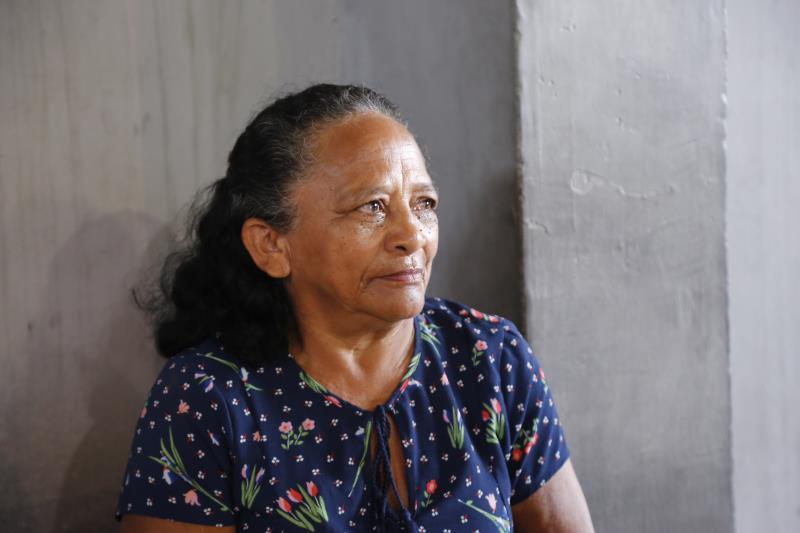 A aposentada Raimunda da Serra conta que ficou satisfeita com a estrutura do local que irá ocupar