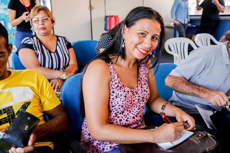 Cleide Santos avaliou positivamente o encontro, no qual esclareceu dúvidas e se interessou por cursos
