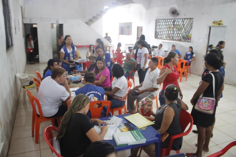Ação Social no bairro Brasília