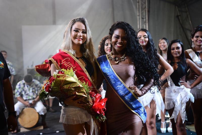 Ágata Lopes recebeu a faixa da modelo Jessiane Souza.
