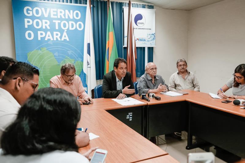 Em coletiva, presidente Márcio Coelho destacou que as obras nos filtros do Complexo Bolonha, responsável por 65% do abastecimento de toda a Região Metropolitana de Belém, seguem aceleradas para que o serviço seja 100% normalizado