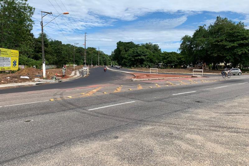 Entrada da Rua Yamada com a Avenida Centenário – duplicada e pavimentada. Será feita sinalização para aumentar a segurança na área