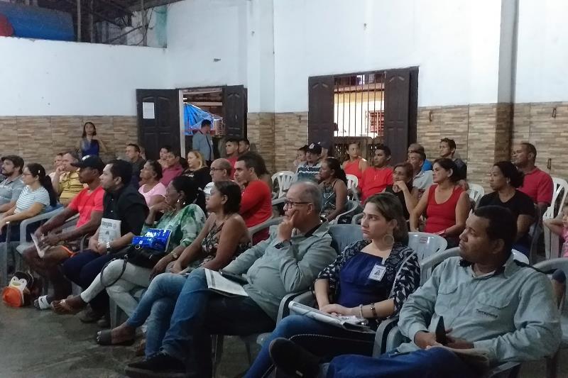Com o objetivo de dialogar e levar informação e esclarecimentos à sociedade, o Núcleo de Gerenciamento de Transporte Metropolitano (NGTM) reuniu com a Associação dos Moradores do Benguí (AMOB), em Belém, no final da tarde da terça-feira (23), para apresentar o projeto de Adequação e Duplicação da Rua Yamada - Rodovia do Tapanã, obra que está sendo executada pelo Governo do Estado.  FOTO: ASCOM / NGTM DATA: 24.04.2019 BELÉM - PARÁ