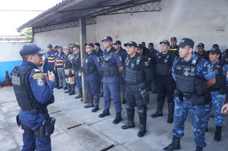 Quarenta agentes da Guarda Municipal de Belém participaram da operação, que vai seguir sem dia e hora marcados para acontecer.