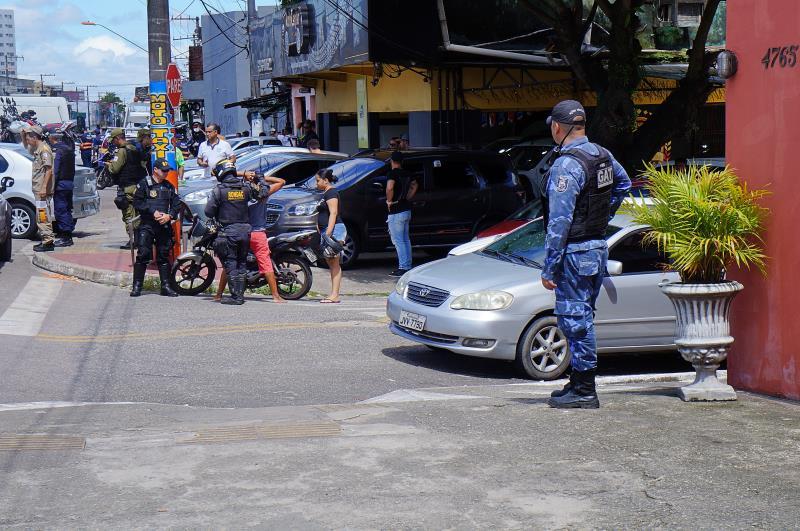 Presença ostensiva da Guarda Municipal coibiu a criminalidade  nos bairros da Sacramenta, da Maracangalha e do Telégrafo.