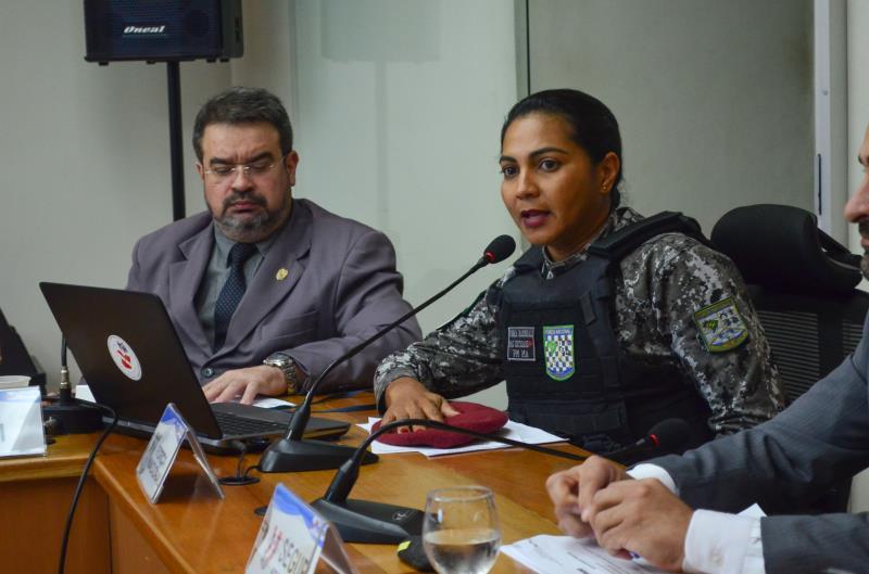 """A major Keyssiane Lima, coordenadora da FN no Pará, a população pode e deve participar das reduções dos índices. """"Com informações da Inteligência e dos moradores pelo 181, a FN atuará de forma mais otimizada"""", ressaltou"""