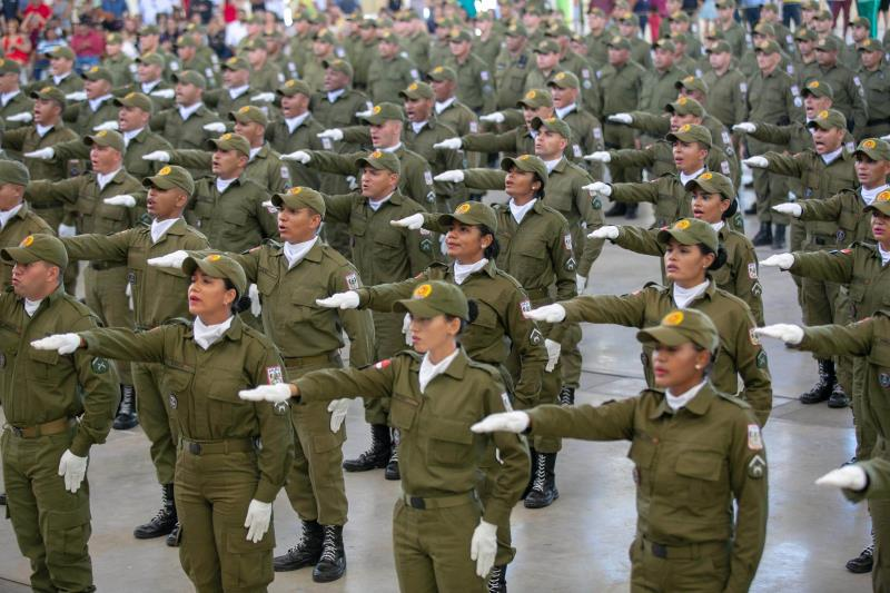 Os 100 policiais militares foram preparados pelo Cfap, em um extenso treinamento que incluiu 38 disciplinas