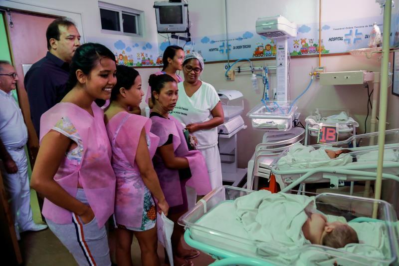 As grávidas conheceram vários ambientes do hospital da Ordem Terceira e ficaram mais confiantes