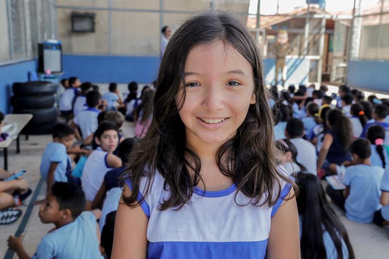 Maria Eduarda Pinheiro disse que vai contar à mãe tudo o que aprendeu nas atividades que foram realizadas na escola