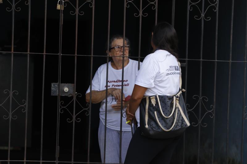 2019.05.09 - PA - Belém - Brasil: Sesan faz mutirão de limpeza na avenida Bernardo Sayão.