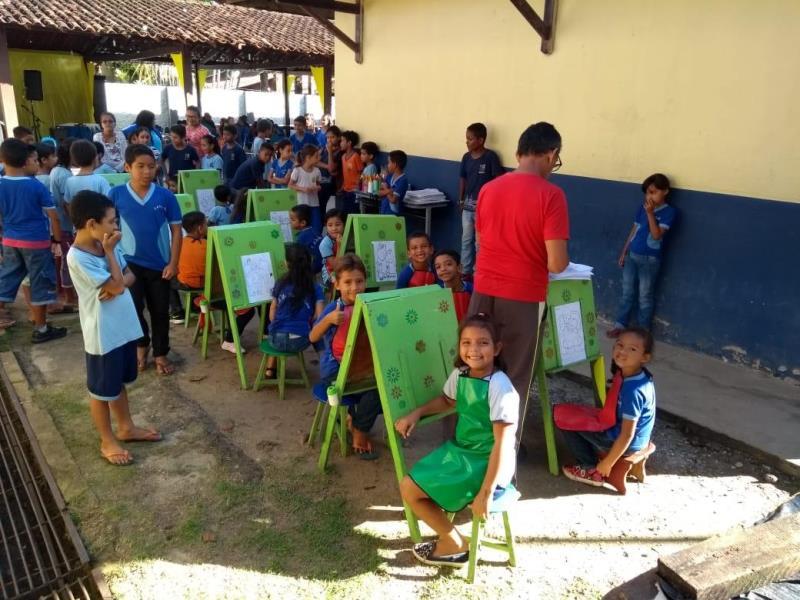 Toda a comunidade escolar se mobilizou para as homenagens à escola Dr. Lauro Alves
