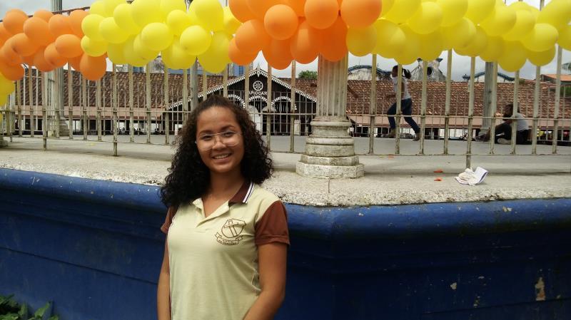 A estudante Larissa Pinheiro, da escola Padre Eduardo, achou importante falar do tema.