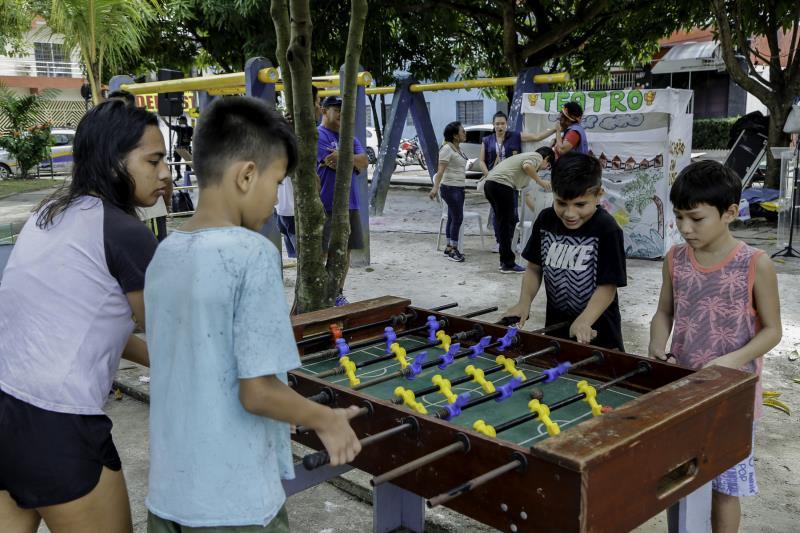 A feira ofereceu também atividades recreativas do projeto Brinca Belém da Sejel.