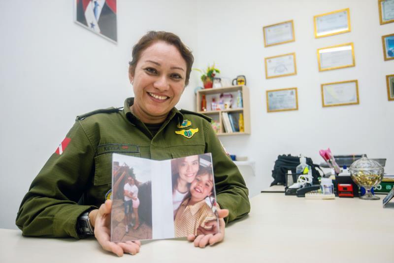 A tenente-coronel da Polícia Militar Andreia Keyla de Oliveira é mais um exemplo de força e competência no universo feminino das forças de segurança pública