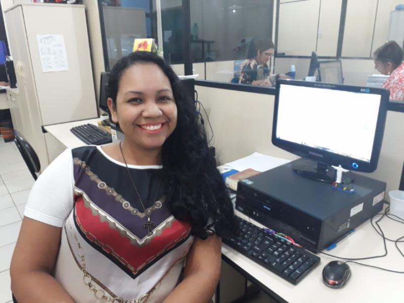 A servidora Joice Brabo, de 27 anos, foi uma das classificadas no cargo de estatística, na primeira chamada do processo seletivo
