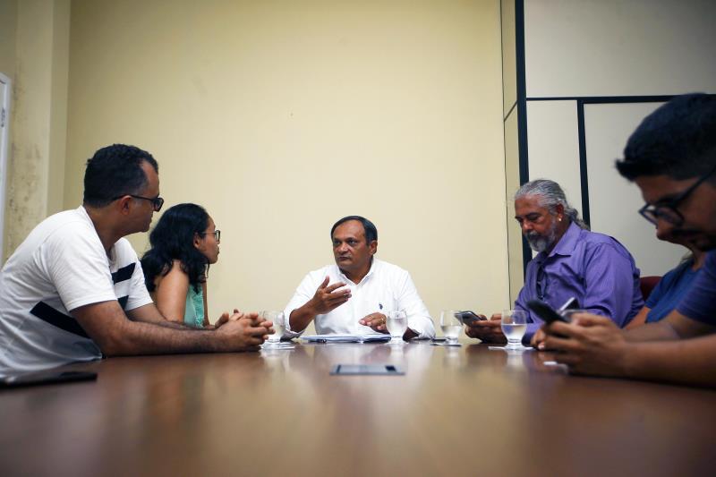 Protesto Seduc. Um dos coordenadores da casa civil, o senhor Luiz Pereira recebeu uma comissão dos manifestantes na casa civil para ouvir as reivindicações. 14/05/2019. Fotos: Maycon Nunes/Agência Pará.