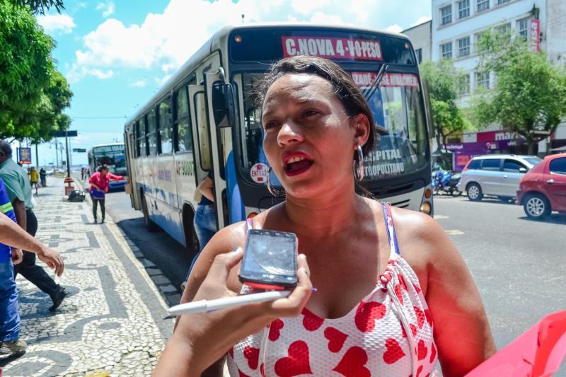 Moradora do bairro da Terra Firme, Liliane Rodrigues, relata que já foi roubada em um coletivo, mas tem percebido que o crime vem reduzindo