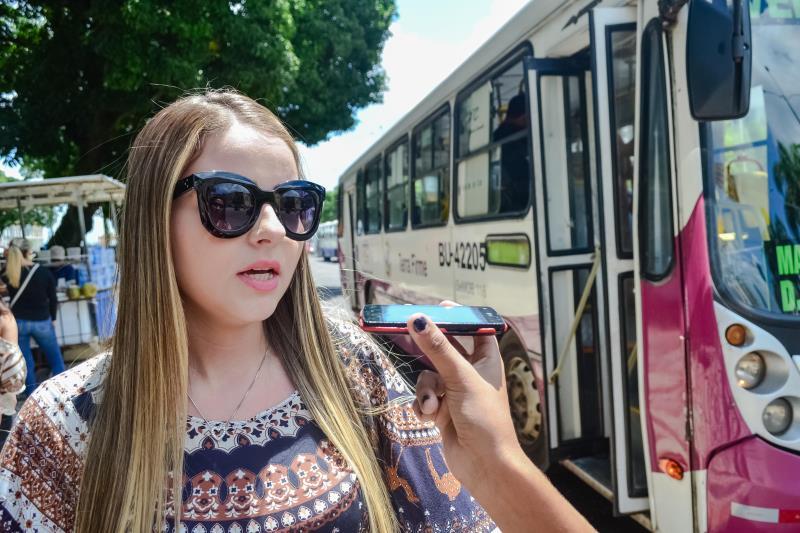 Para a estudante Fabrine Amaral, que utiliza o ônibus como meio de transporte, com mais viaturas nas ruas, a violência tende a diminuir