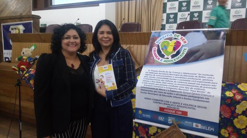 O Ministério Público esteve presente no evento com a pedagoga Bethânia Vinagre e a promotora Sílvia Branches Simões