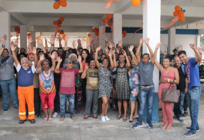 A comemoração pelo Dia do Gari não passou em branco no Departamento de Resíduos Sólidos (Dres) da Sesan.