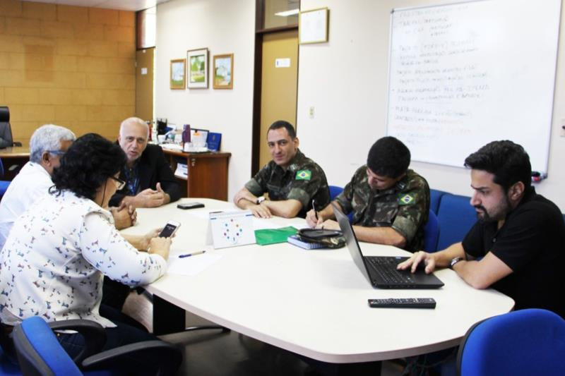Representantes da Prodepa, Prodap e do Exército Brasileiro se reuniram para alinhar informações sobre o andamento do projeto que interligará Pará e Amapá por meio de fibra ótica