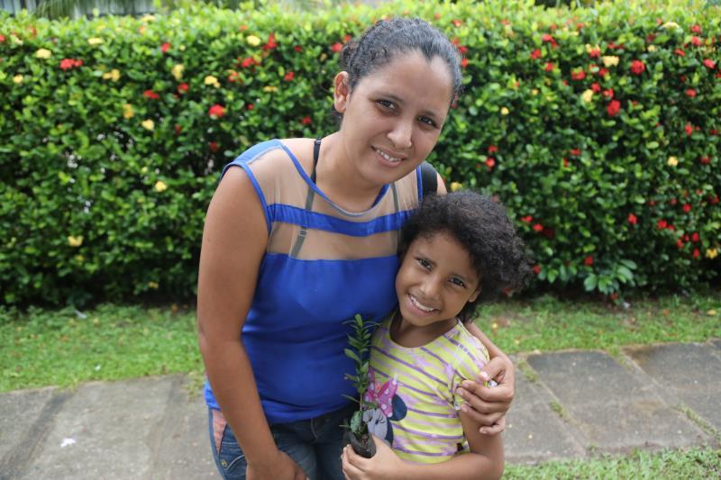 Renata Soares aproveitou o evento para fazer um curso de emprendedorismo e também para conscientizar a filha sobre questões do meio ambiente
