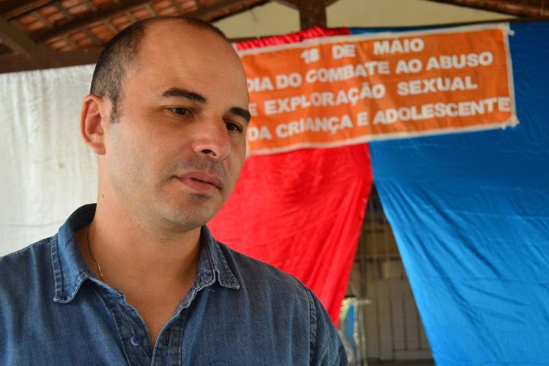 Capitão Rodrigo Martins, da Diprev, falou da importância de os alunos saberem identificar, desde pequenos, o que é carinho e o que é abuso, para não se tornarem vítimas