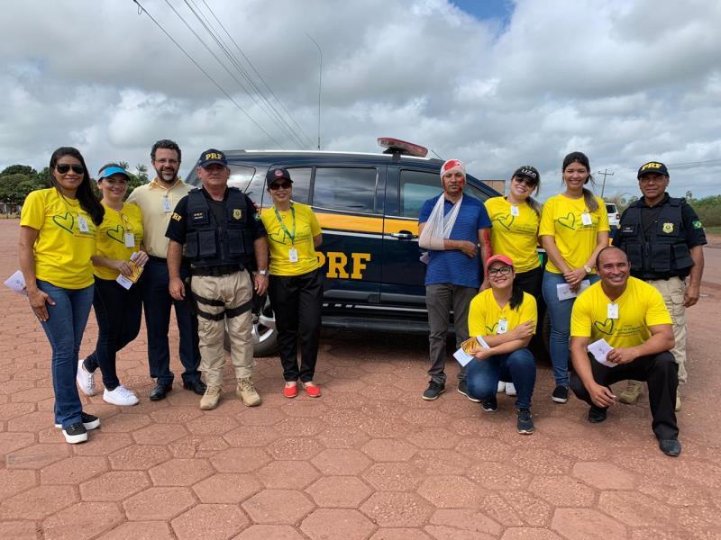 Equipes do HRPL e PRF juntos na prevenção de acidentes de trânsito