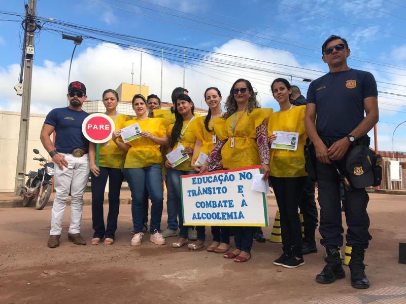 A ação do HGT conta com apoio da Cipa, em parceria com o Demutran e a Auto Escola Tailandense