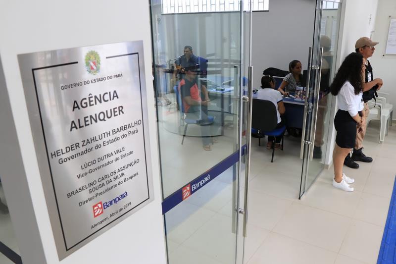 A agência do Banpará em Alenquer é a sexta entregue nos cinco primeiros meses do atual governo
