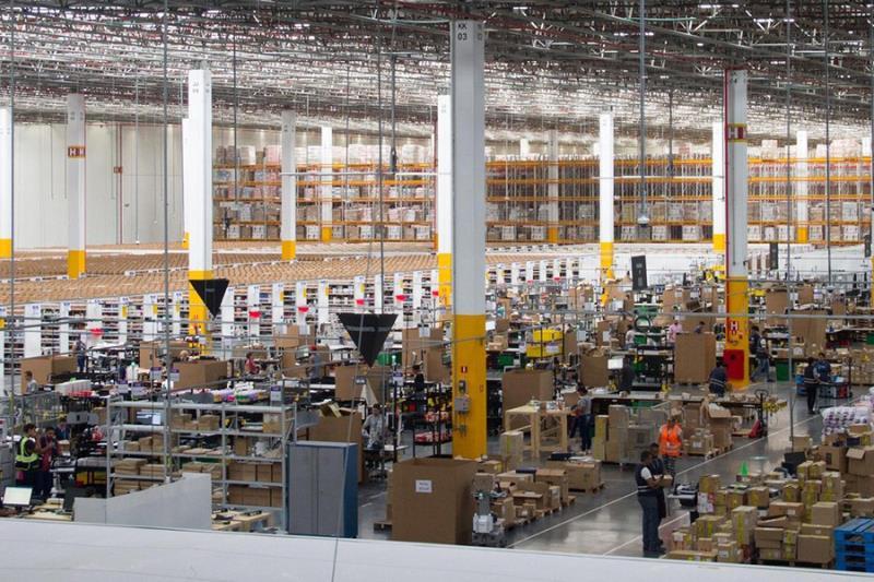 Centro de distribuição da Amazon em Cajamar, interior de São Paulo.