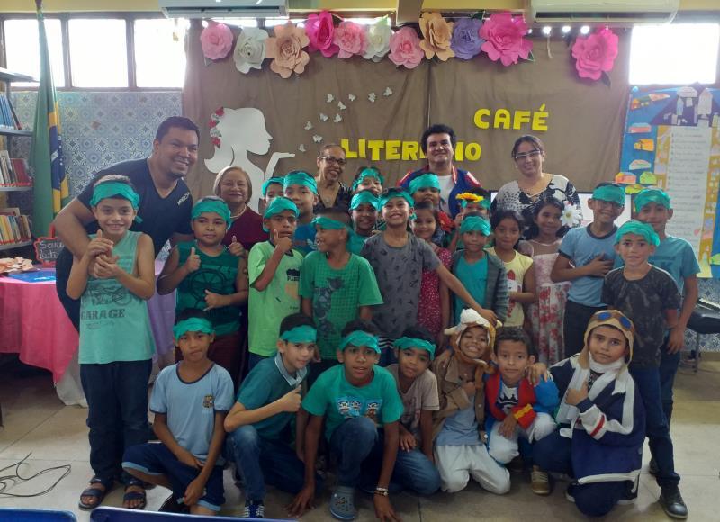 A Escola Municipal Maria Madalena Raad, em Icoaraci, recebeu o projeto Sarau Matinal