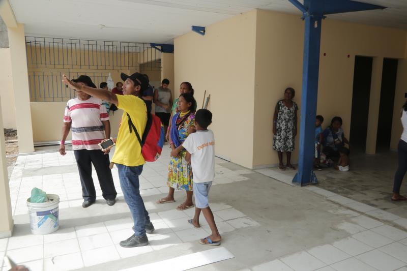 O abrigo provisório foi reformado e agradou aos indígenas