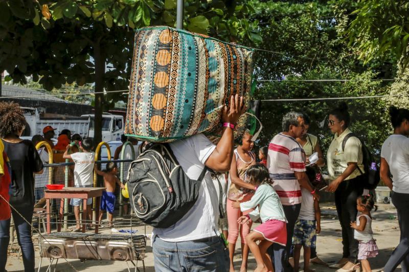 Do realocamento dos indígenas participaram servidores da Funpapa, Sesan e Guarda Municipal