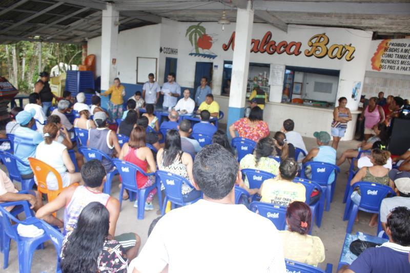 Maior parte do público que compareceu à reunião foi de permissionários que já atuam no distrito