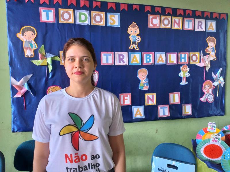 Rejane Meireles Alves, Procuradora do Ministério Público do Trabalho que realizou a formação para os professores no Centro de Formação
