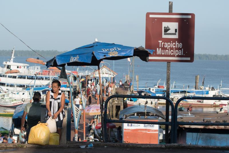 Para chegar à ilha de Cotijuba, o acesso é pelo porto localizado no distrito de Icoaraci