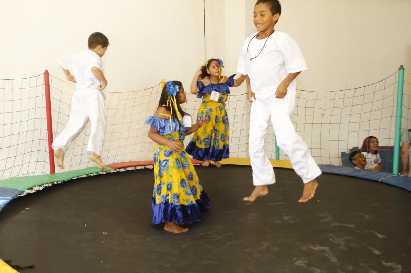 As crianças se divertiram nas atividades do programa Brinca Belém, da Sejel