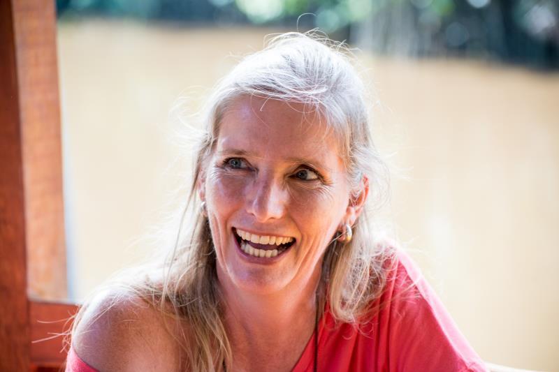 A visitante Natascha Siems, de 43 anos, é frequentadora assídua da ilha e diz que ama a paz que o lugar proporciona.