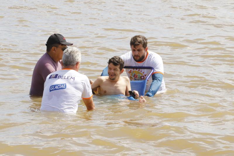 2019.07.12 - PA - Belém - Brasil: Projeto Praia Acessível da Sejel em Mosqueiro.