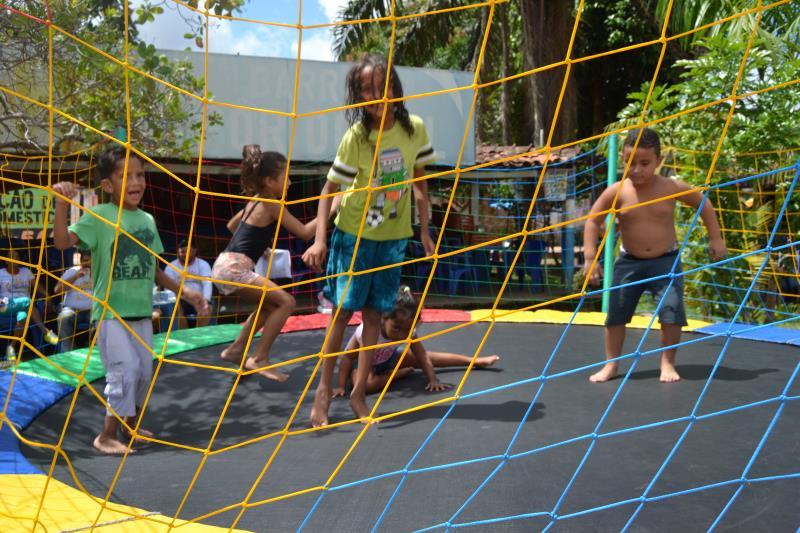A diversão da criançada foi garantida com ações do programa Brinca Belém, da Sejel