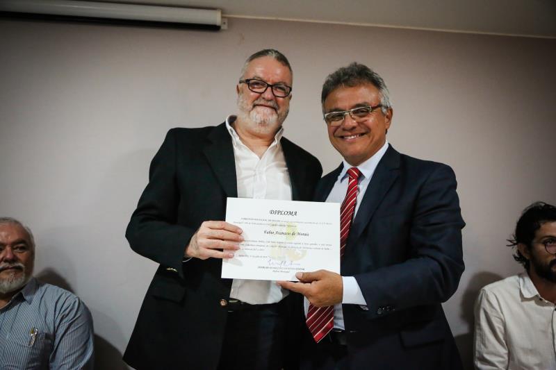 Fábio Atanásio (à esquerda), presidente da Fumbel, permanece na presidência do Conselho