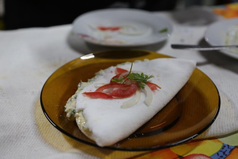 Tapioca de bacalhau ao molho branco é uma das opções do Circuito Gastronômico