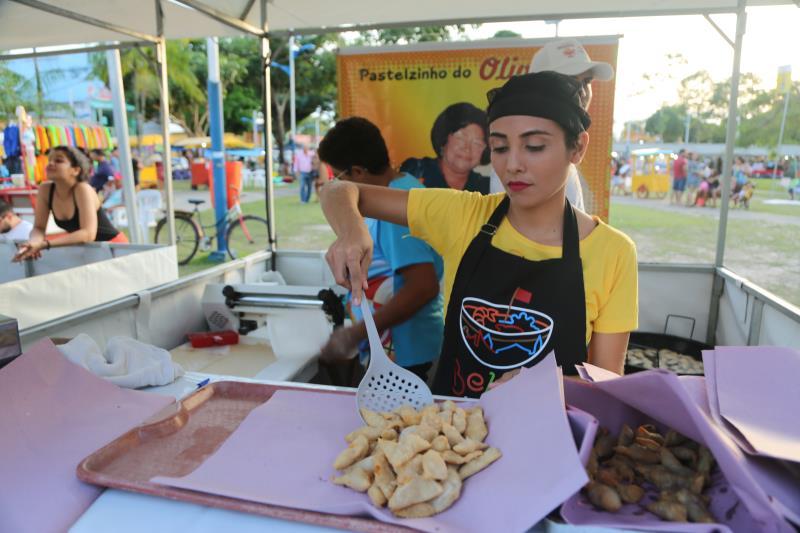 O famoso Pastel do Oliveira, muito procurado na ilha de Mosqueiro, também está presente no Circuito Gastronômico